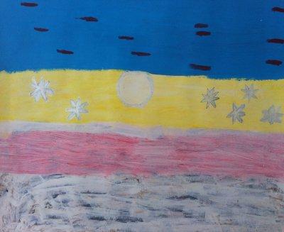 MA Winter landscape , 2011 - acrylics on paper