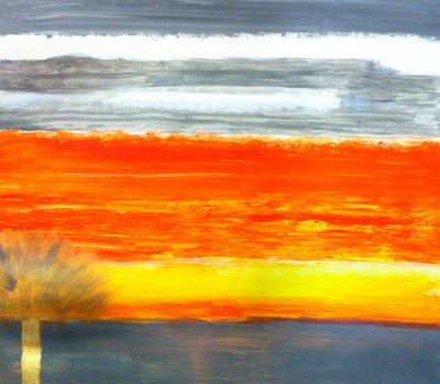 MA Sunset, 2012 - acrylics on cardboard