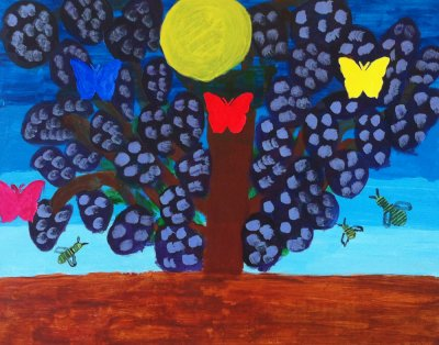 MA Seasonal Buddleja , 2011 - acrylics on cardboard