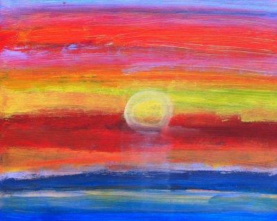 MA Evening sunset, 2012 - acrylics on cardboard
