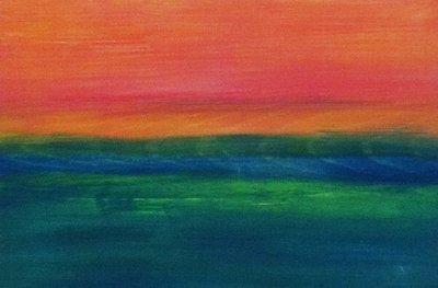 MA Sunset, 2012 - acrylics on wood