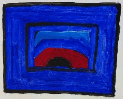 MA Stained glass window, 2011 - acrylics on cardboard