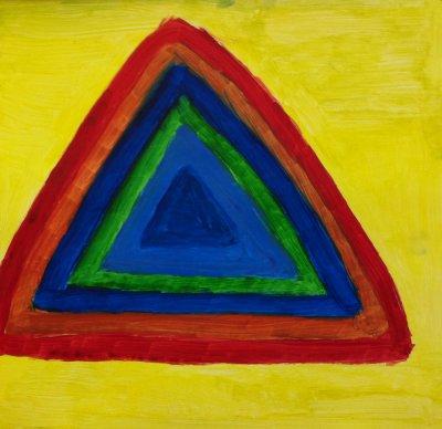 MA Magic triangle, 2010 - acrylics on cardboard