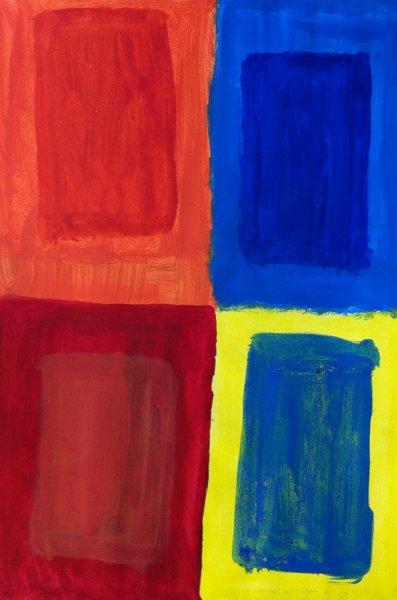 MA Coloured windows, 2011 - acrylics on cardboard