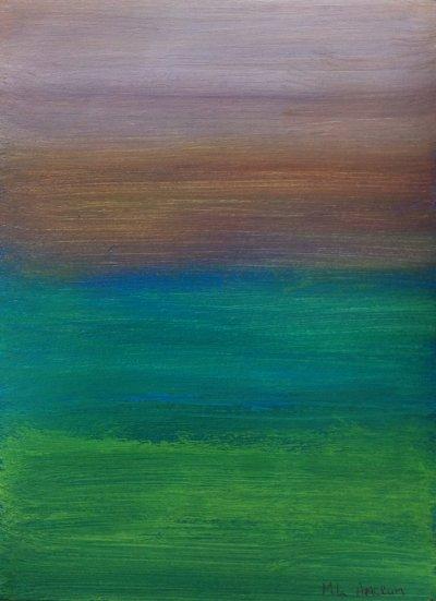 MA Misty sky, 2012 - acrylics on paper - Sold