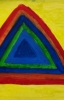 MA Magic triangle, 2010 - acrylics on cardboard
