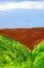 MA Farm land, 2012 - acrylics on cardboard