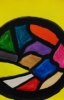 MA Stained glass window, 2012 - acrylics on cardboard