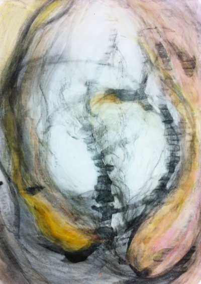 Laura R, 2012 - charcoal and water on paper